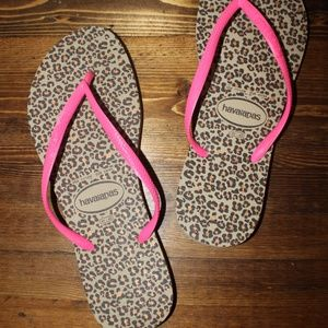 Havaianas Leopard & Hot Pink Women's Sandals